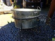 Sale 8566 - Lot 1464 - Metal Drinks Bucket on Small Stand