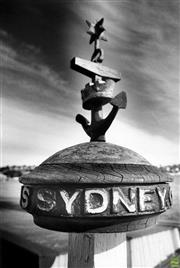 Sale 8721A - Lot 54 - David Porter - Railing post head from H.M.A.S. - Snapper Island, Sydney 1987 24 x 17cm