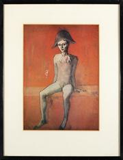Sale 8844 - Lot 72 - After Picasso - Harlequin sitting on a red couch