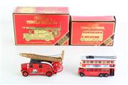 Sale 8960T - Lot 43 - Matchbox Models of Yesteryear 1931 trolley bus together with a 1936 Fire Engine