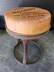 Sale 9026 - Lot 1043 - Industrial Style Stool Marked Haynes (H57cm)