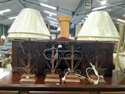 Sale 9071 - Lot 1022 - Set of Four Rust Table Lamps