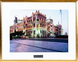 Sale 9130S - Lot 76 - A framed photographic print of the treasury of Brisbane, frame size 80cm x 99cm, together with Gold coast convention and exhibition...