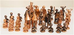 Sale 9191W - Lot 715 - A collection of copper chess pieces