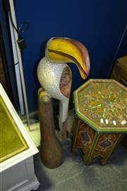 Sale 8013 - Lot 1081 - Carved Timber Bird On Stand