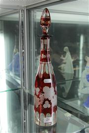 Sale 8098 - Lot 24 - Bohemian Red Glass Decanter