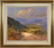 Sale 8443 - Lot 533 - Rubery Bennett (1893 - 1987) - Kangaroo Valley 49.3 x 59.5cm
