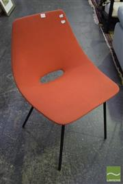 Sale 8532 - Lot 1119 - Steiner Red Fabric Chair