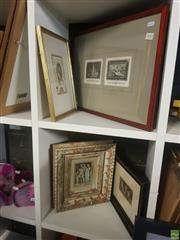Sale 8595 - Lot 2089 - Group of (6) Assorted Artworks, including Andrew Jardine, Watercolour, C19th Engraving, Italian Classical Style Relief, Painting and...
