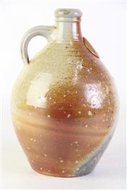 Sale 8855 - Lot 91 - Studio Pottery Glazed Jug with Ornamental Medallion, signed to base, SV., height 26cm
