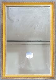 Sale 8971 - Lot 1027 - A Gilt Framed Rectangular Mirror, with yellow velvet slip (116 x 76cm)