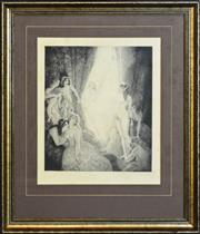 Sale 8325A - Lot 149 - Norman Lindsay (1879 - 1969) - Eternity's Avatar 35 x 30cm
