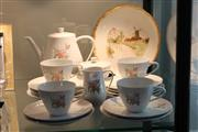 Sale 8369 - Lot 64 - German Tea Setting For 4 Persons & French Cabinet Plate