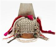 Sale 8697A - Lot 3 - A traditional Tibetan ceremonial head dress, does not include timber hat block