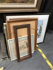 Sale 8803 - Lot 2094 - Group of Assorted Artworks plus Two Decorative Prints