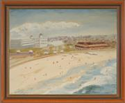 Sale 8973 - Lot 2002 - D. Faulkner Bondi Beach oil on canvas on board, 48 x 58cm (frame) signed frame) signed -