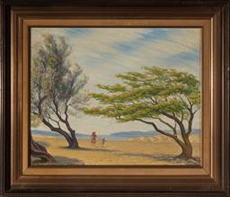 Sale 9125A - Lot 5083 - Clive Wilbow (2 works) - Mother & Daughter; Sketch for Mother & Daughter 41 x 50 cm; 19 x 25.5 cm (frames: 55 x 64 x 4 cm ; 36 x 43...