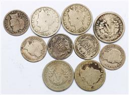Sale 9156 - Lot 202 - A USA late 19th/early 20th century coins incl dimes and nickels