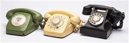 Sale 9170H - Lot 73 - A group of three retro decorative dial up telephones