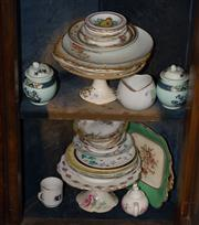Sale 7962B - Lot 54 - Two shelf lots of assorted miscellaneous ceramics including plates and cakestands