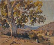 Sale 8000 - Lot 273 - Max Middleton (1922 - 2013) - Untitled (View Towards Town with Gumtree) oil on canvas on board