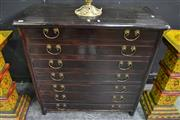 Sale 8099 - Lot 802 - Oriental Chest of 7 Slim Drawers