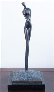Sale 8800 - Lot 61 - A bronze of a female nude, on base, total height 35cm