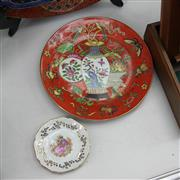 Sale 8362 - Lot 92A - Two Porcelain Plates - Chinese & French