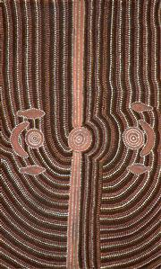 Sale 8656A - Lot 5070 - Artist Unknown (Papunya Tula) - Untitled 120.5 x 75.5cm