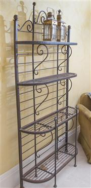 Sale 8470H - Lot 395 - A metal four tier bakers stand, H 175 x W 101cm