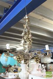 Sale 8478 - Lot 2265 - Hanging Light with Grape Decoration