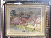 Sale 8767 - Lot 2013 - Gibson - Spring Caroar, oil on canvas board, 45 x 55cm (frame size), signed lower right