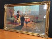 Sale 8859 - Lot 1003 - Ornately Framed Madam Butterfly Print by Kacz