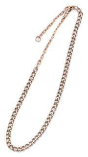 Sale 9020 - Lot 372 - A 9CT GOLD CHAIN; 30cm curb chain with anchor link chain extensions at each end, with swivel clasp, length 47cm, wt. 29.05g.