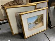 Sale 9041 - Lot 2053 - Howard Scott (3 works), Sydney Beach Scenes, oil on canvas, each frame: 44 x 50 cm, signed