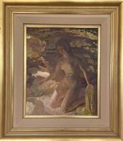 Sale 9044J - Lot 40 - Arthur Murch - Nude at Beach 53x43cm
