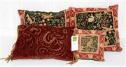 Sale 8088A - Lot 15 - A set of four embroidered cushions