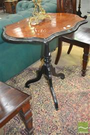 Sale 8267 - Lot 1056 - Napoleon III Probably Thuya Veneered Occasional Table, with serpentine top & ebonised pedestal