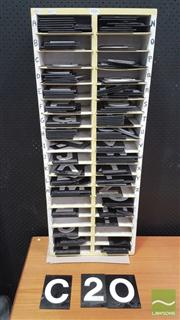 Sale 8383 - Lot 1006 - Letters & Numbers Tiles in Cabinet