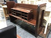 Sale 8882 - Lot 1067 - Late 19th/ Early 20th Short Cedar Church Pew, with panelled back, from a church in Chippendale (H: 94 W: 147.5 D: 39cm)