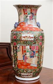 Sale 8882H - Lot 12 - A large modern Chinese/ Cantonese vase with court scenes, Height 48cm