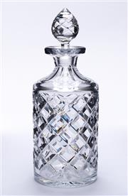 Sale 9015J - Lot 120 - A good quality hand cut lead crystal decanter Ht: 25cm