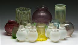Sale 9153 - Lot 96 - A large collection of deco lightshades