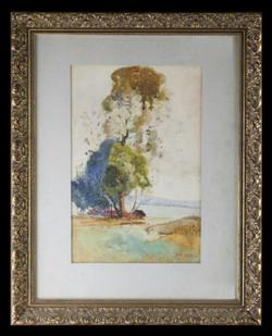 Sale 7923 - Lot 569 - Sid Long - Landscape 31 x 20cm