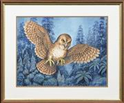 Sale 8270A - Lot 66 - Charles A. Newman (1913 - ?) - Night Owl In Flight, 1986 35 x 45cm