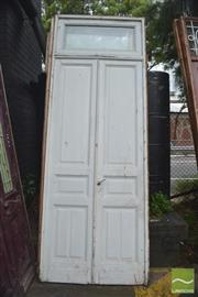 Sale 8326 - Lot 1389 - Pair of Over Sized Timber Doors