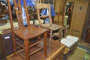 Sale 8359 - Lot 1731 - Group Of Six Various Rustic Pine And Oak Chairs