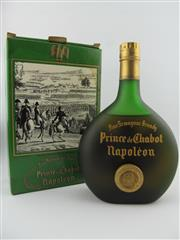 Sale 8385 - Lot 607 - 1x Prince de Chabot Napoleon Armagnac - old bottling in box, evaporative losses