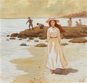 Sale 8699 - Lot 2034 - Gerrard Lants (1927 - 1998) - Stroll Along the Beach 25 x 26cm
