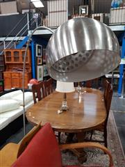 Sale 8676 - Lot 1088 - Chrome Arc Lamp